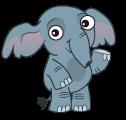 Baby Elephant Waving