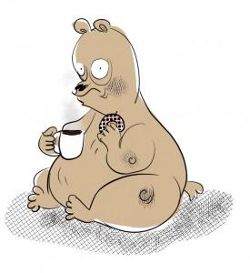 Coffee and Donut Bear
