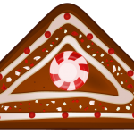 Peppermint & Gingerbread Christmas Cookie