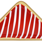 Striped Christmas Cookie