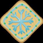 Snowflake Christmas Cookie