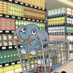 Baby Elephant in Shopping Cart