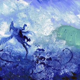 Sea Dragon Gouache Painting | Beth Carson