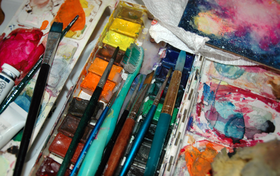 Paints and Paintbrushes