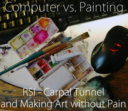 Paints, computer keyboard and mouse | bethcarson.co.uk