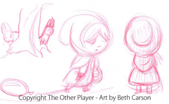 Red Riding Hood Character Concept Art - The Other Player Art by Beth Carson