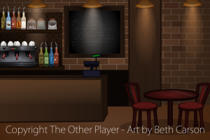 Bakery Counter Game Art - The Other Player Art by Beth Carson