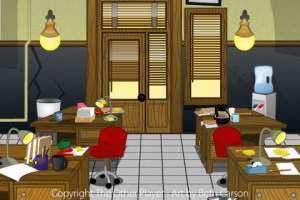 Police Station Layout Background Art for Games - The Other Player Art by Beth Carson