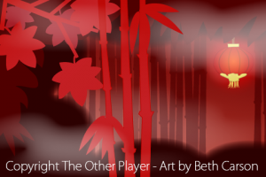 Bamboo Scene Layout Art for Games - The Other Player Art by Beth Carson