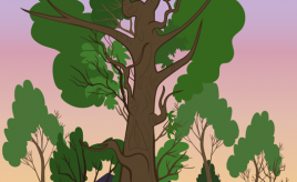 Tree and Town Scenery Concept - Copyright The Other Player - Art by Beth Carson