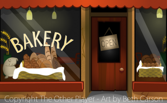 Bakery Outside Game Art - The Other Player Art by Beth Carson