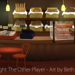 Bakery Seating Area Game Art - The Other Player Art by Beth Carson