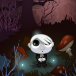 Spooky Mushroom Forest Scene Game Art - The Other Player Art by Beth Carson