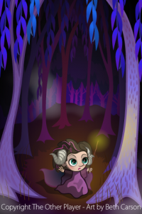 Enchantress in a Forest Layout Mock-up Game Art - The Other Player Art by Beth Carson