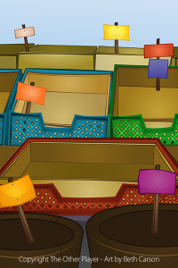 Fruit Stand Background Art for Games - The Other Player Art by Beth Carson