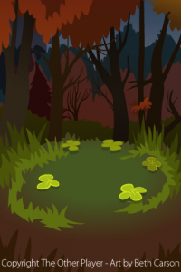 Clover Glade Background Art for Game -The Other Player Art by Beth Carson