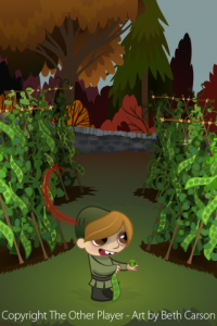Garden Pea Layout Art for Game - The Other Player Art by Beth Carson
