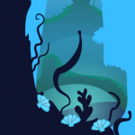 Deep Sea Layout Art Background for Game - The Other Player Art by Beth Carson