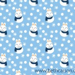 Snow Bunny Repeat Pattern | Beth Carson