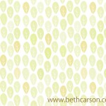 Pale Yellow Leaf Pattern | Beth Carson