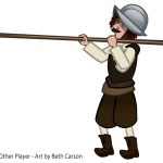Pikeman Character Game Character - Copyright The Other Player, Art by Beth Carson