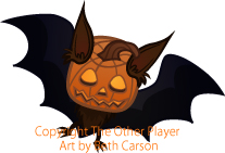 Pumpkin Bat game art – copyright The Other Player, Art by Beth Carson