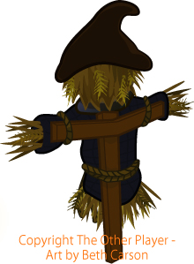 Reverse scarecrow game art – copyright The Other Player, Art by Beth Carson