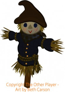 Scarecrow game art – copyright The Other Player, Art by Beth Carson