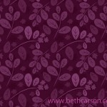 Purple Leaf Pattern | Beth Carson