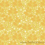Yellow Flower Pattern | Beth Carson
