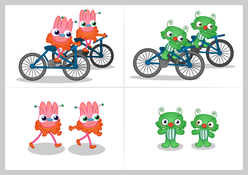 Monsters on Bicycles by Beth Carson