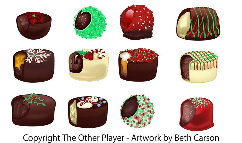 Christmas Chocolate Designs by Beth Carson