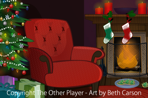 A Christmassy Fireside Scene - Game Layout