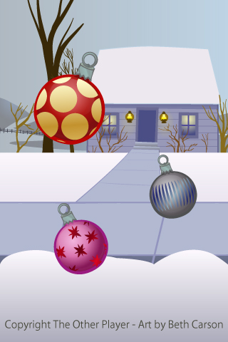 A Wintery Outdoor Scene for a Christmas Game - Game Layout