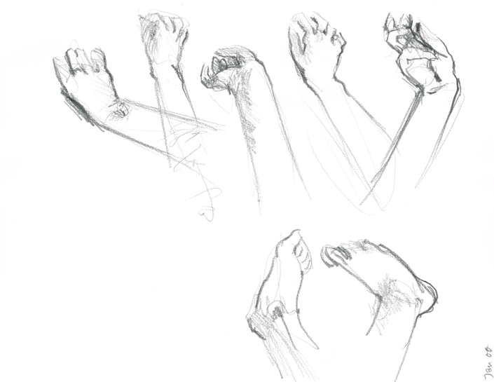 Life Drawing Hands and Feet | Beth Carson