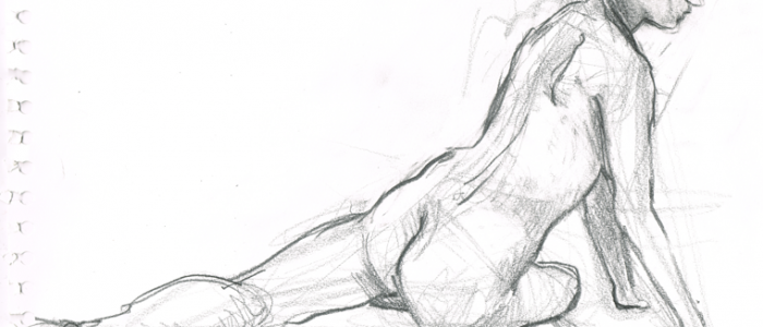 Life Drawing Pencil Nude Woman | Beth Carson