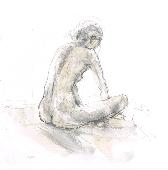 Life Drawing Nude Woman Back | Beth Carson